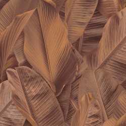 Carta da parati foglie di banano rame Lymphae 17810